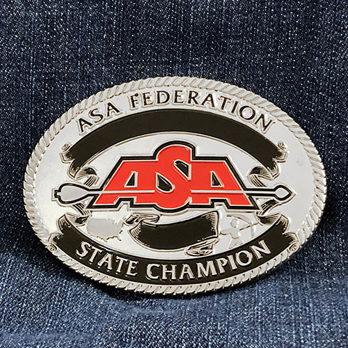 ASA Federation State Champion Buckle
