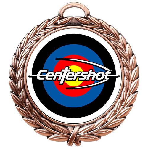 Custom Centershot Antique Medal Antique Bronze