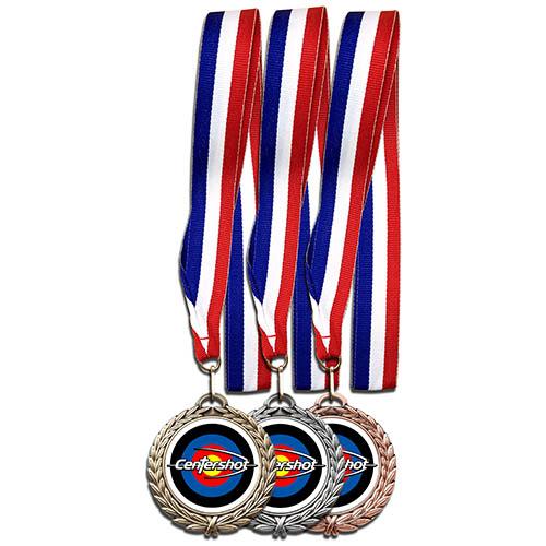 Centershot Target Antique Medal with Neck Ribbon