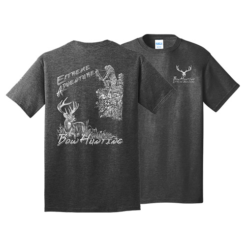 Bowhunting The Ultimate Adventure Tee Dark Heather Grey