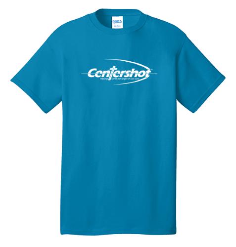 Port Company Core Cotton Tee Neon Blue Color