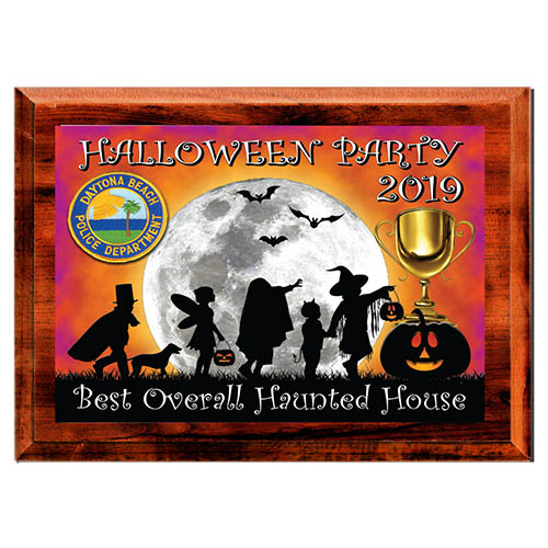 Full Color Single Plate Plaque Haloween