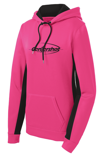 Sport ek Sport Wick CamoHex Fleece Colorblock Hooded Pullover Neon Pink Color