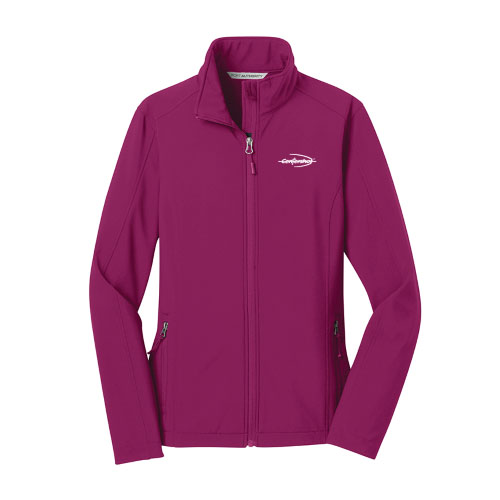 Port Authority Ladies Core Soft Shell Jacket Very Berry Color
