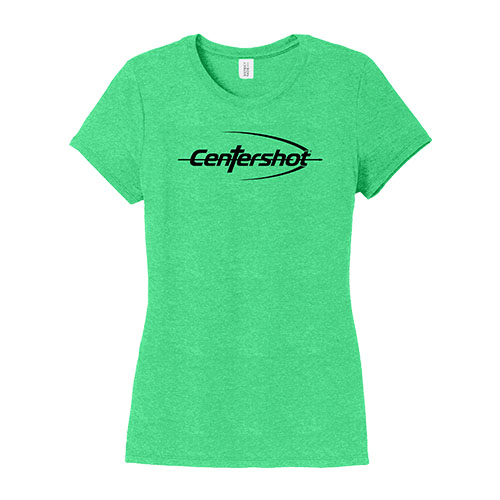 District Womens Perfect Tri Tee Green Frost Color