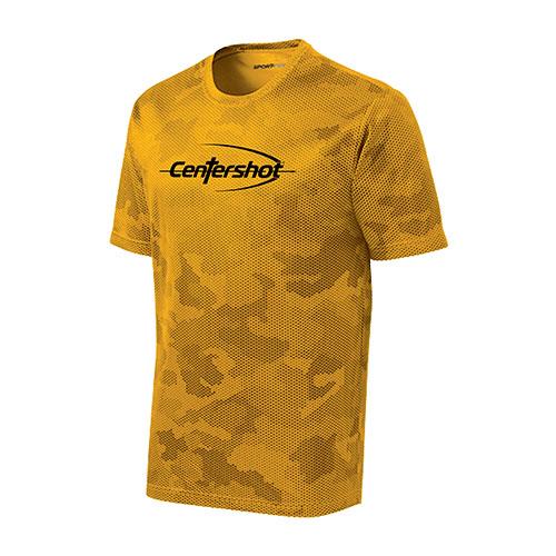 Sport Tek CamoHex Tee Gold