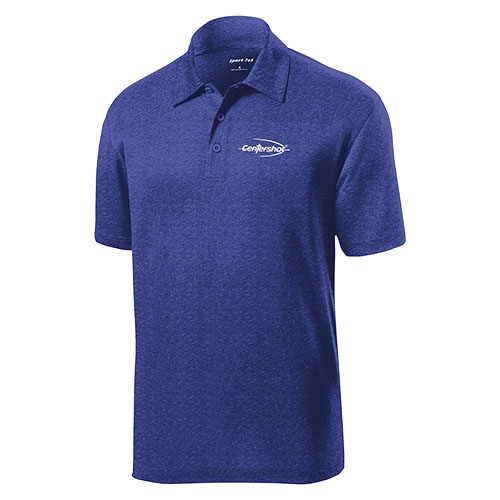 Sport Tek Heather Contender Polo True Royal Heather Color