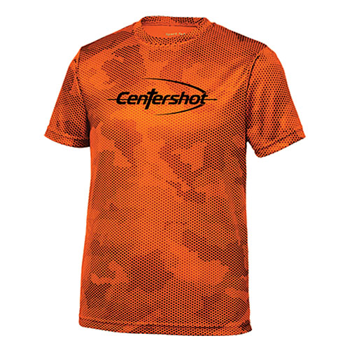 Sport Tek Youth CamoHex Tee Neon Orange Color