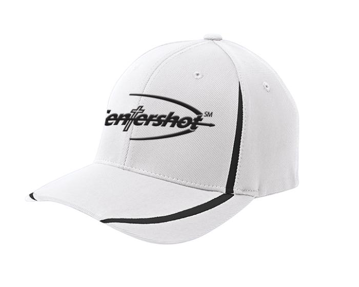 Sport Tek Flexfit Performance Colorblock Cap White Black Color