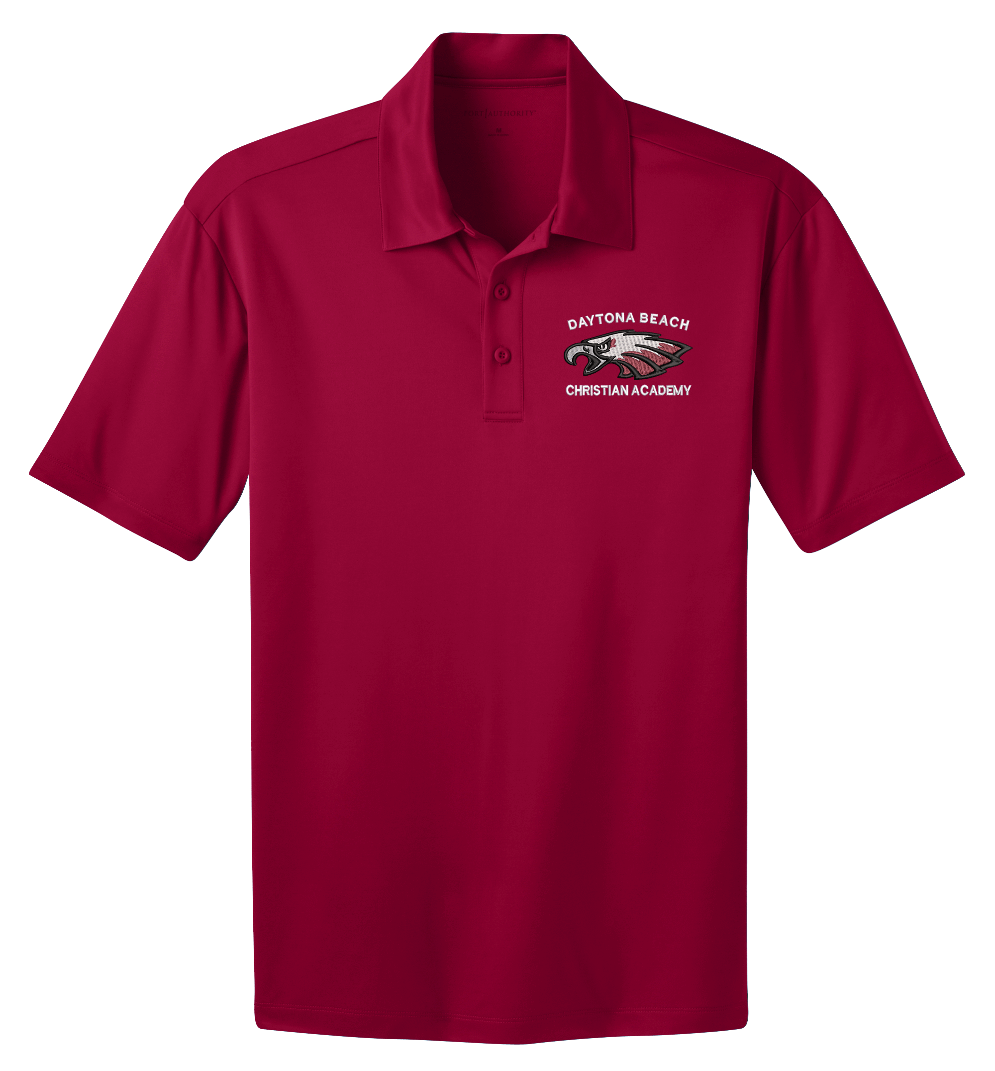 DBCA Adult Silk Touch Performance Polos Red